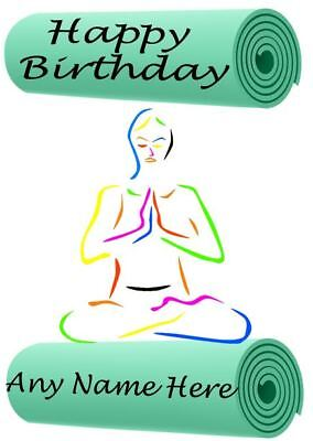 Yoga Mat Happy Birthday A5 Personalised Card Code998 Wife Partner Husband
