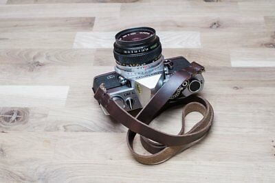 "42"" Hand Made, Hand Stitched Vintage Genuine Leather Camera Neck Strap"