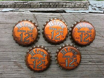 Vintage Unused Hires Rj Root Beer Soda Pop Beverage Cork Bottle Cap / Crown