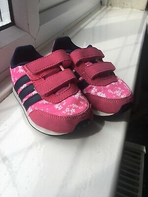 Baby Girls Toddler Pink Nike Trainers Size UK 6 Infant