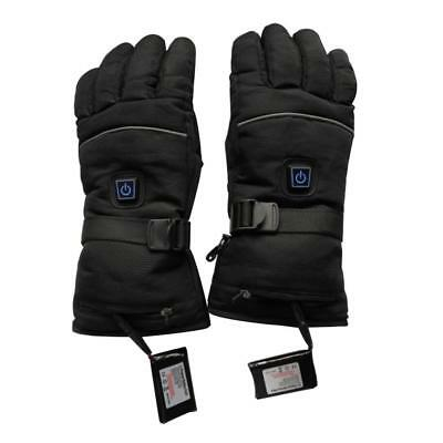 Men Women Heated Gloves Rechargeable Battery Powered Winter Warm Ski Mittens