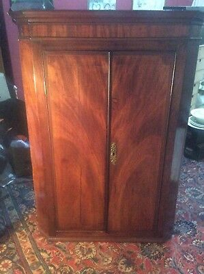 Beautiful mahogany Inlaid Corner Cabinet