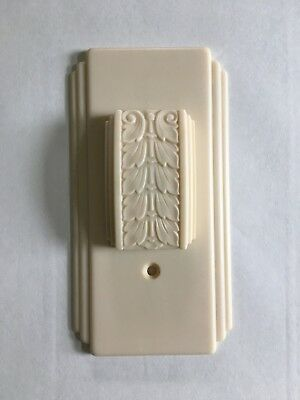 Vintage Wall Plate Decorative Switch Plate Corp. - Art Deco Ivory Celluloid 1939