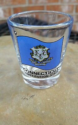 CONNECTICUT CONSTITUTION STATE State Flag SHOT GLASS SHOTGLASS