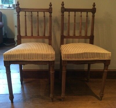 pair of regency dining chairs