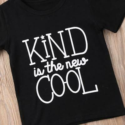 """S-324B Toddlers """"Kind is the New Cool"""" Black T-shirt 2T-6T (Free Shipping)"""