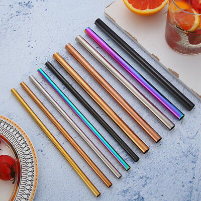 5 Color Drink Stainless Straws Birthday Party Supplies Baby Shower Wedding