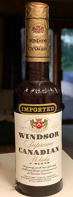 """Vintage Windsor Canadian Whiskey Inflatable Blow-Up Bottle Store Display Adv 24"""""""