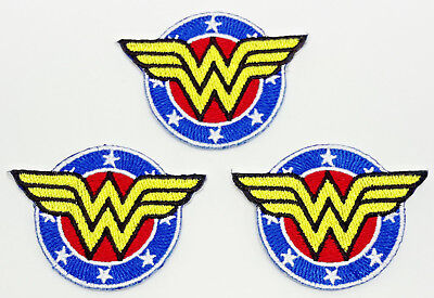 """Wonder Woman Round Logo 2"""" Mini-Patches - Set of 3 - Mailed from USA (WWPA-MP02)"""