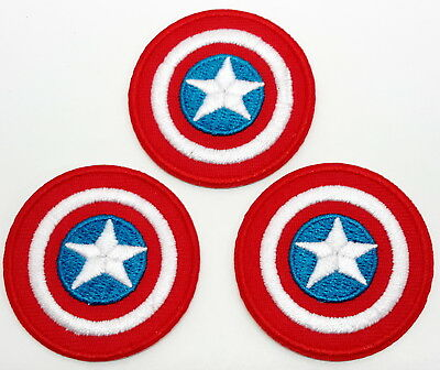 """Captain America 1.5"""" Mini-Patches - Set of 3 - Mailed from USA (CAPA-01)"""