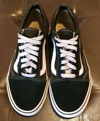 Men's Size 6 Vans Old Skool Black Skateboarding Shoes Classic Canvas Suede