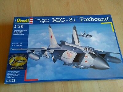 "Revell MIG-31 ""Foxhound"" Russian Airforce 1:72  EXTREM RAR"