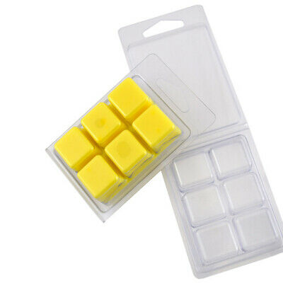Clam Shell Melt Moulds 6 Cavity (x50) for Wax Melts