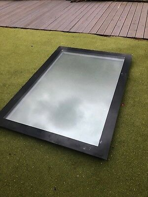 Used Flat Roof Light, Wooden Frame, Double Glazed