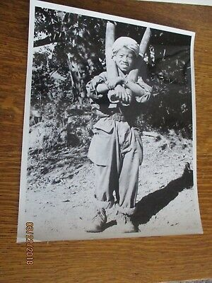 WWII 1945 Gunga Din Mars Task Force Water Bamboo Tubes Burma Photo 8x10 Military