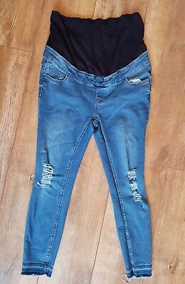 New look Ripped Maternity Over Bump petite  Jeans Size 12