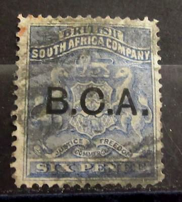 British CENTRAL AFRICA BCA Colonies - ULTRAMARINE Shade - Used - VF - r32e5552