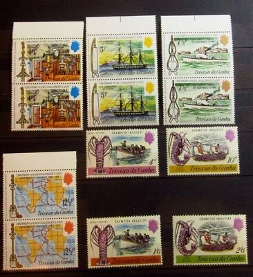 TRISTAN da CUNHA British Colonies stamps BOAT Set  - Mint MNH - VF - r23e6319