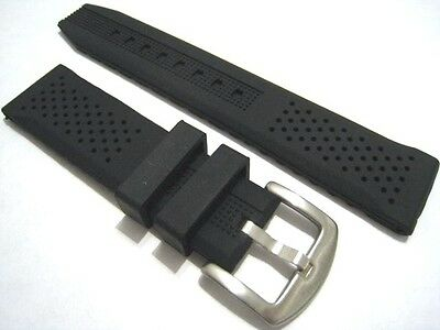 Silicone watch strap. Soft with steel buckle. 16mm,18mm,20mm,22mm,24mm. From UK