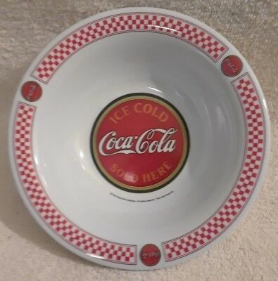 Coca Cola Collectible Melamine Red Checkered Cereal Bowl - Gibson