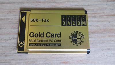PCMCIA Gold Card Multi-Funktion PC Card 56K+Fax GSM & ISDN ready