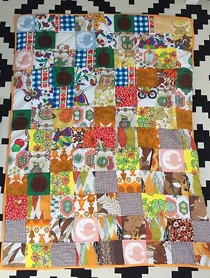 Little Bird By Jools Oliver Style Vintage Retro Patchwork Cot Bed Quilt Blanket