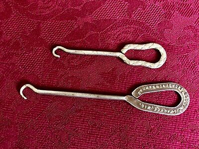 Two Antique Hooks For Shoes/corsets Lacers