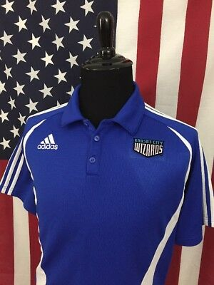 adidas Kansas City Wizards MLS Polo Shirt men s MEDIUM Sporting KC Soccer  17182 05e13ca36