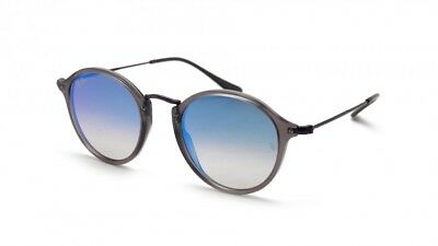 9ffcf01c487 Authentic Ray Ban Sunglasses RB2447N 6255 4O Gray Frames Blue Flash Lens  49MM