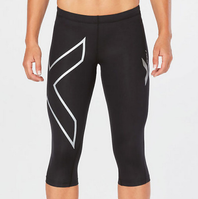 2XU Cycling Womens 3/4 Compression Tights Black XS Extra Small
