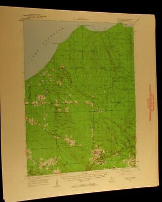 Greenland Michigan 1960 vintage USGS Topographical chart map