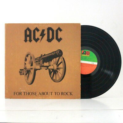 """AC/DC """"For Those About To Rock"""" LP 1981 ATLANTIC"""