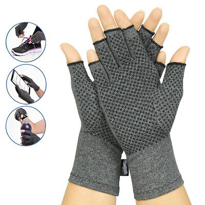 Arthritis Gloves Soft Compression Hand Support Finger Pain Relief Therapy S/M/L