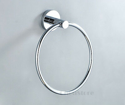 Chrome Brass Round Bathroom Hand Towel Ring Rack Holder Bar