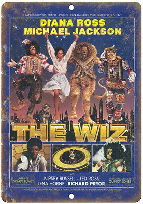 """Diana Ross Michael Jackson The Wiz Poster  10""""X7"""" Reproduction Metal Sign ZH183"""