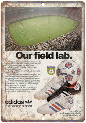 """Adidas Soccer Shoes NASL Games Ad 10"""" X 7"""" Reproduction Metal Sign ZE48"""