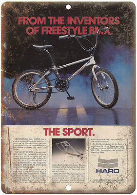 """10"""" x 7"""" Metal Sign - HARO BMX Sport Freestyle - Vintage Look Reproduction B25"""