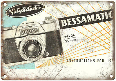 """Bessamatic 35mm Camera Voighander 10"""" x 7"""" reproduction metal sign"""