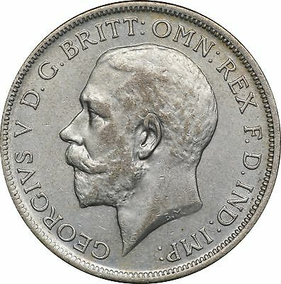 1920 UK Great Britain, 1 Florin, AU 1F About Uncirculated