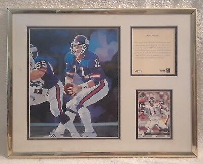 "Vintage Phil Simms Framed & Numbered Lithograph ""Legends and Superstars"""