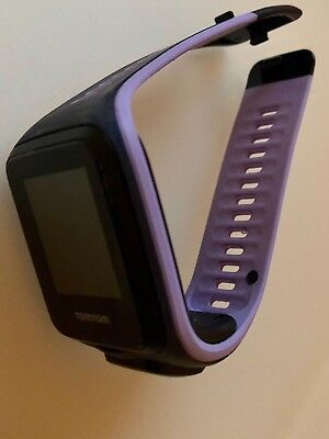 TomTom Runner 2 GPS Watch with Heart Rate Monitor - Small Strap, Sky Blue/Purple