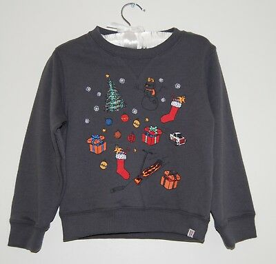313e1449f NWT LITTLE BOYS Sovereign Code Gray Wishlist Holiday Pullover LS ...
