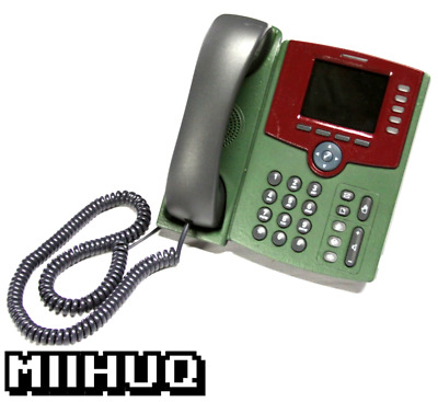 Cisco SPA525G2 5-Line Business IP Phone - Military Green & Red