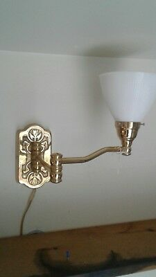 Solid Heavy Brass Nos Vintage Style Dimpled Shade Lamp by Eddie Harris.