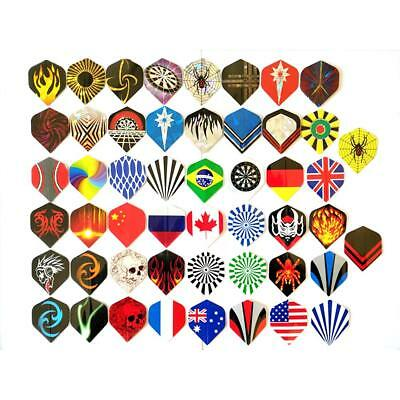 150pcs/lot Dart Flights Mixed 50 Kinds Of Patterns PVC Darts Fin Feather Parts