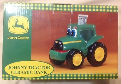2000 New Enesco John Deere Johnny Tractor Ceramic Bank No Chips Or Scratches