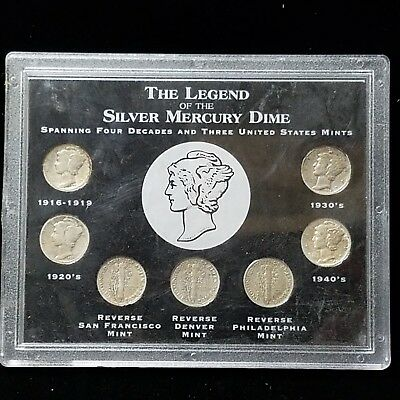 The Legend of the Silver Mercury Dime Collection (7 Coins) (otb0059)