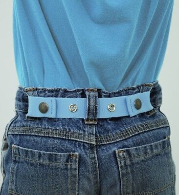 Dapper Snappers Original Made-in-USA Baby to Toddler Adjustable Cinch Belt~Blue