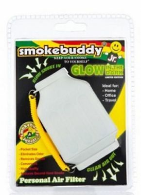 Smoke Buddy Junior Personal Air Purifier Cleaner Filter Removes Odor(Glow White)