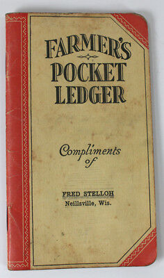 1933 1934 John Deere advertising Farmer's Pocket Ledger Neillsville, Wisconsin